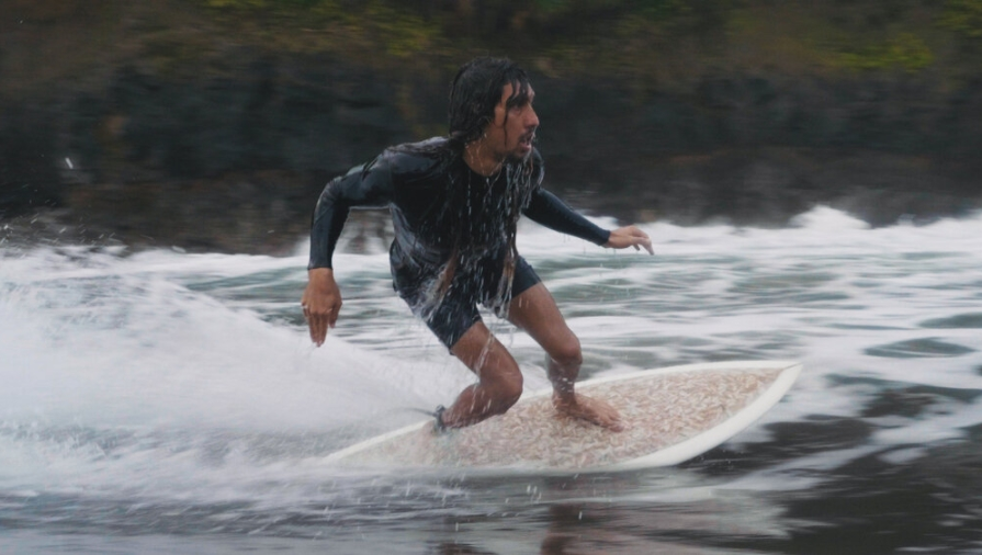 Cliff Kapono rides a Ciggy Board. Photo by Dan Lorch.