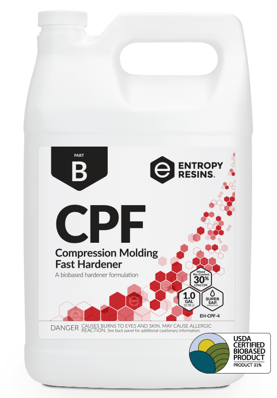 CPF Compression Molding Fast Hardener by Entropy Resins