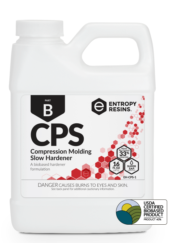 CPS Compression Molding Slow Hardener is a USDA Certified Biobased Product by Entropy Resins
