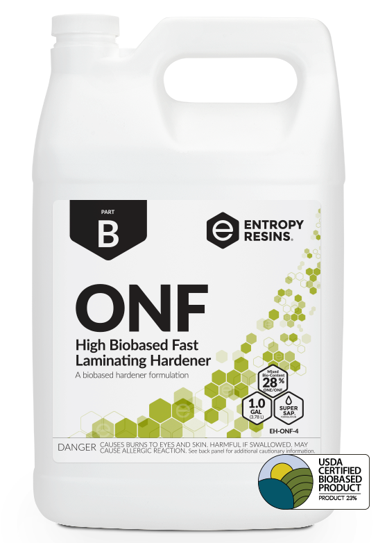 OONF High Biobased Fast Laminating Hardener by Entropy Resins