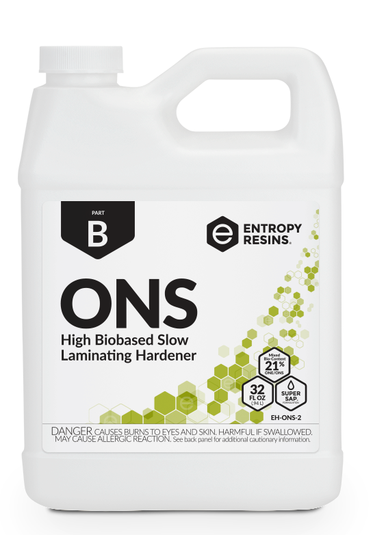 ONS High Biobased Slow Laminating Hardener by Entropy Resins