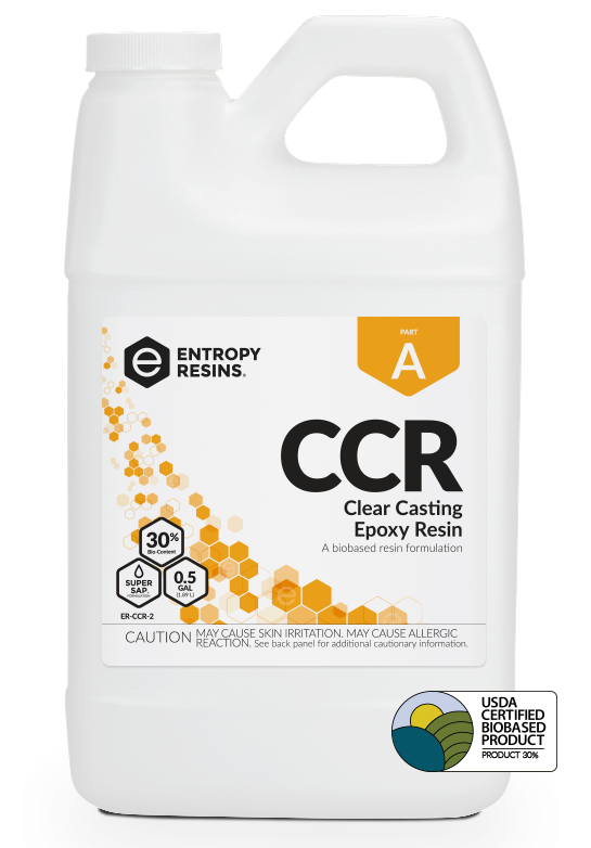 CCR Clear Casting Epoxy Resin is a USDA Certified Biobased Product by Entropy Resins