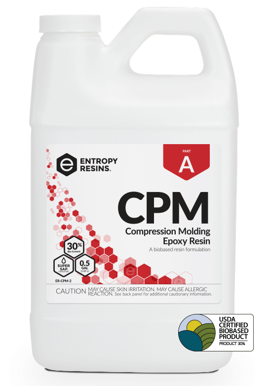 CPM Compression Molding Epoxy Resin is a USDA Certified Biobased Product by Entropy Resins