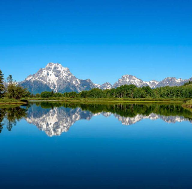 nature lake and mountains