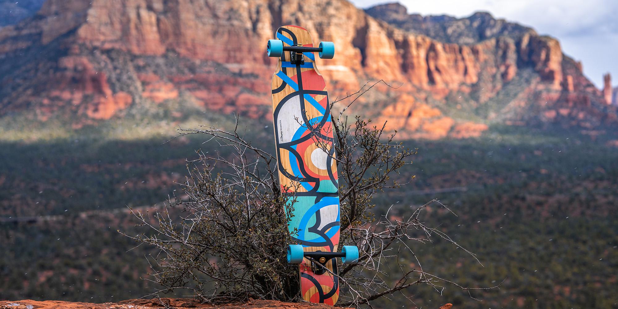 Longboard in desert