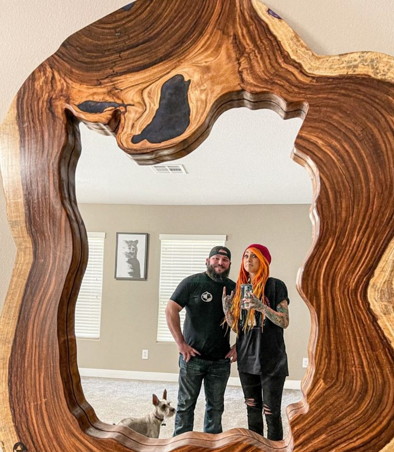 live edge mirror by The Wright Edge